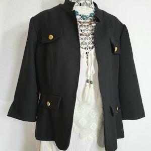 Boyfriend Jacket Black 3/4 Sleeve Jacket